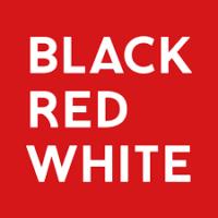 black red white logo